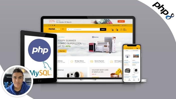 Crea Sistemas Marketplace con PHP7 y bases de datos MySQL