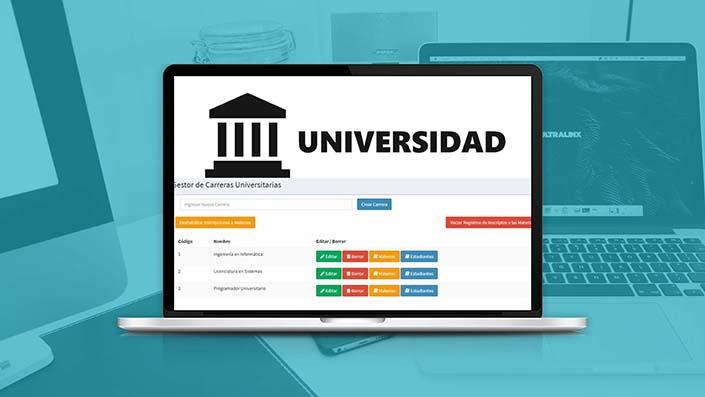 Crea Sistemas de Gestión para Universidades con PHP y MySQL